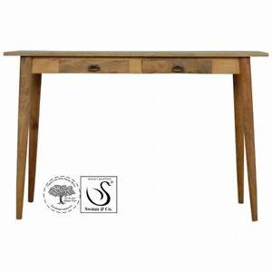 Nordic Style Writing Desk In light Oak.