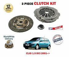 FOR RENAULT CLIO + VAN 1.5 DCI 2001-->NEW CLUTCH PLATE COVER BEARING KIT SET