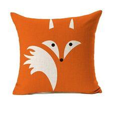 "Orange Fox Throw Pillow Cover Cushion Case Cotton Linen 18"" X 18"" ( 2 COVERS!;)"
