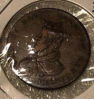 1792 Great Britain Lancashire Lancaster Half -1/2 Penny Conder Token Nice grade
