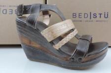 Women's Shoes Bed/Stu JASLYN Platform Wedge Sandals Taupe Sand Rustic Size 8