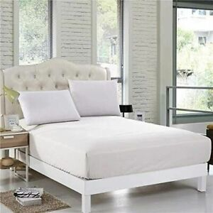 "500 Thread Count Luxury 100% Egyptian Cotton Fitted Sheet 16""/ 40cm Extra Deep"
