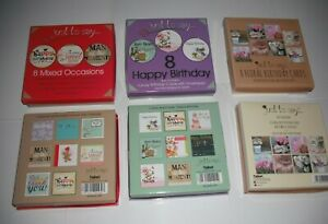 Pack of 8 Multi-pack Birthday Cards,Mixed Value Pack with Envelopes.Adult & Kids