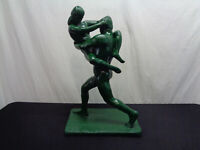 """Large Austin Production 1971 Dancing Lovers Couple Statue 22"""" Tall (OAYC4)"""