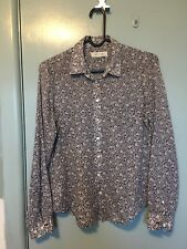 Country Road Blue And White Floral Cotton Shirt In Size XS