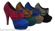tronchetti scarpe donna tacco alto scamosciato plateau alla caviglia vl 287