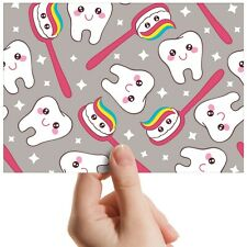 "Happy Teeth Rainbow Tooth - Small Photograph 6"" x 4"" Art Print Photo Gift #12719"