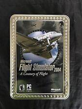 Microsoft Flight Simulator 2004: A Century of Flight (PC, 2003) Collectors Tin