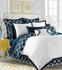 NEW West Point Jill Rosenwald Hampton Links Navy Twin Reversible Duvet Cover