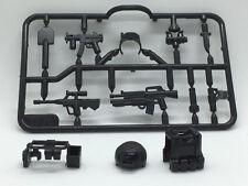 12 PCS Military / SWAT Items - Vest, Belt, Gas Mask, Weapons for Lego Minifigure