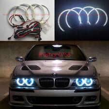 BMW E39 E46 3 5 Series Xenon White Headlight SMD LED Angel Eyes Halo Rings Kit