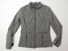 Prana Jacket Women's Size XS Gray Full Zip Nylon Blend Military Style