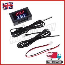 Car Engine Digital Dual Water Temperature Gauge Kit And Temp Sensor 4V - 28V  UK