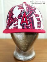 MLB California Los Angeles Angels '47 Brand Snapback Hat Cap All Over Print Logo
