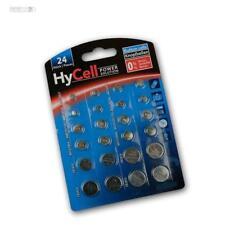 24 X Knopfzellen-Sparset Hycell - par 2x CR2032 CR2025 CR2016 CR1620 LR41 LR43