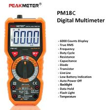 Digital meter Multimeter Tester Capacitance Frequency Temperature hFE NCV