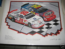 Jeff Gordon Kevin Harvick first WIN Atlanta Lithograph~by Don Hodson with COA-AP