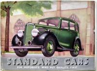 STANDARD Cars range 1936 Original Car Sales Brochure