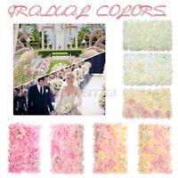 60x40cm Artificial Simulation Flower Wall Panel Wedding Background DIY Decor L