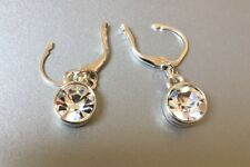 Silver Plated Drop / Dangle New New Swarovski 10mm Crystal Earrings Sterling