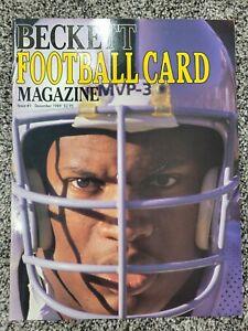 Beckett Football Card Monthly Magazine (Issue #1, Dec 1989) BO JACKSON Cover