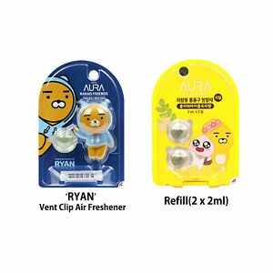 Kakao Talk Friends Ver.2 RYAN Characters Car Vent Clip Air Freshener + Refill