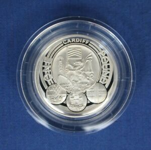 """2011 Silver Proof £1 coin """"Cities - Cardiff"""" in Capsule"""