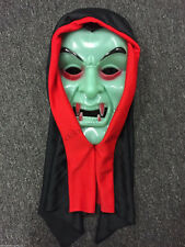 Halloween Spooky Horror Scary Party Supplies Costume Vampire Mask Green Dress Up