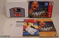 WCW Mayhem (Nintendo 64) COMPLETE IN BOX!