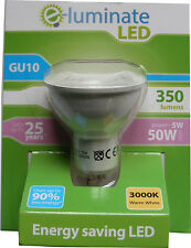 1 x SPOT LIGHT LED BULB GU10 5W (50W Equiv) WARM WHITE 3000K LED SPOTLIGHT BULB