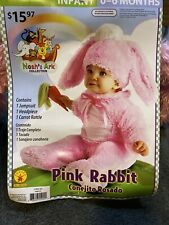 Infant Girls 0-6 Months�Pink Rabbit� Brand New Halloween Costume