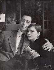 Photo originale Paul Meurisse  Leslie Caron Orvet Jean Renoir théatre 1955