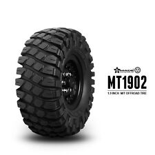 Gmade RC 1/10 Rubber TRUCK Tires 1.9 ROCK CRAWLER mt 1902 Wheels 108mm W/ Foam