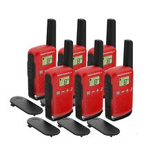 6 x Motorola TALKABOUT T42 6 Pack Two-Way Radios in Red PMR 446 Compact