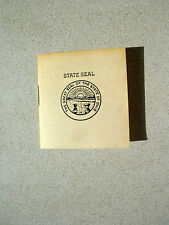 Ohio Facts Miniature Book Society MBS Conclave VII Keepsake Hand Colored Pics