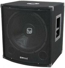 QTX 170.750 Disco PA Speaker Bass Box 15in 300w RMS Gold Plated Terminals Black