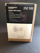 New Elementals by Hampton Bay Exterior Wall Lantern in White
