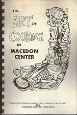 ART OF COOKING IN *MACEDON CENTER NY VINTAGE FIREMEN'S AUX. COOK BOOK *LOCAL ADS