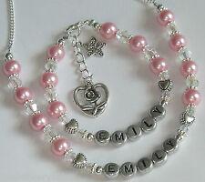 Pearl Necklace Personalised Bracelet Ladies Girls Birthday gift