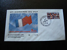 FRANCE - enveloppe 21/12/1990 27e congres du PCF (cy7) french (M)