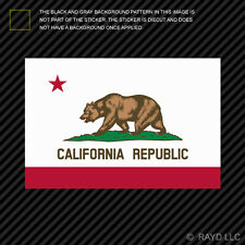 "4"" Flag of California Sticker Die Cut Decal Bear Flag Republic Californian"