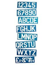 100MM A-Z Letras Mayúsculas 0-9 Plástico Plantilla Plantilla Kit Poster Cartel Letras