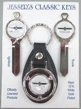 White Thunderbird Deluxe Classic White Gold Key Set T-Bird 1977 1978 1979 NOS