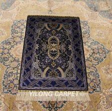 YILONG 2'x3' Tribal Tapestry hand knotted Carpets Hand woven Silk Area Rug 768A