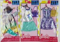 Barbie Complete Fashion Fashionista dress and Handbag lot of 3