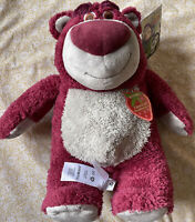 Disney Store Toy Story Lotso Bear Strawberry Scented Medium Soft Plush NEW