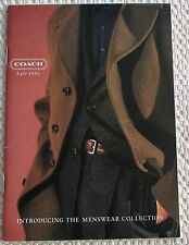 """1996 COACH """"THE MENSWEAR COLLECTION"""" 33 PAGE SMALL BROCHURE. (4321)"""