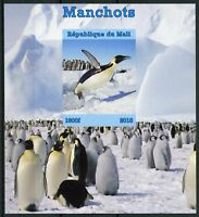 Mali 2018 MNH Penguins Emperor Penguin 1v IMPF M/S Manchots Bird Birds Stamps