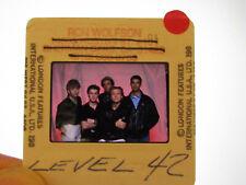 Original Press Promo Slide Negative - Level 42 - 1980's