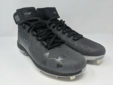 Under Armour Bryce Harper 2 Black Baseball Steel Cleats | 1297307-001 | Size 9.5